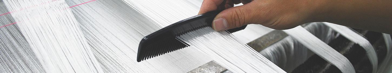 紺藤織物の織技術