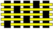 5枚朱子織り平面図