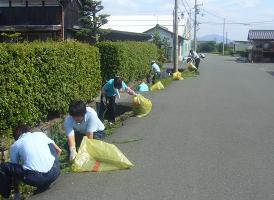 紺藤織物のCSR活動「近隣道路清掃活動」